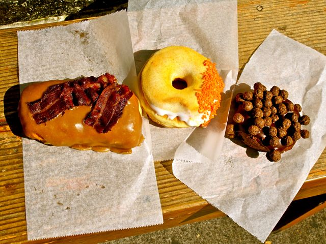 Amazing and crazy donuts, Voodoo Donuts, Portland, OR